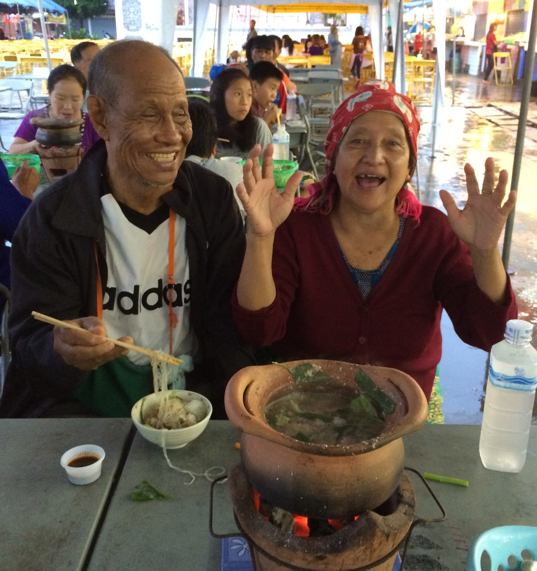 The residents enjoyed this new 'hot pot' experience. Love them!